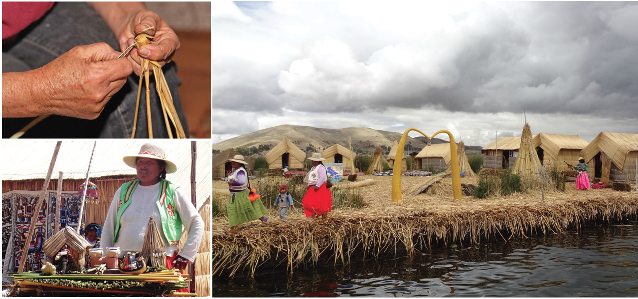 Lago Titicaca people and art gatelmand