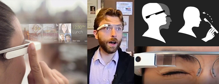 The different ways to interact with Google Glass