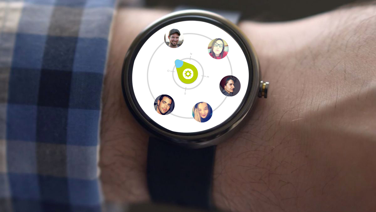 Social Compass Gatelmand Android Wear Interface